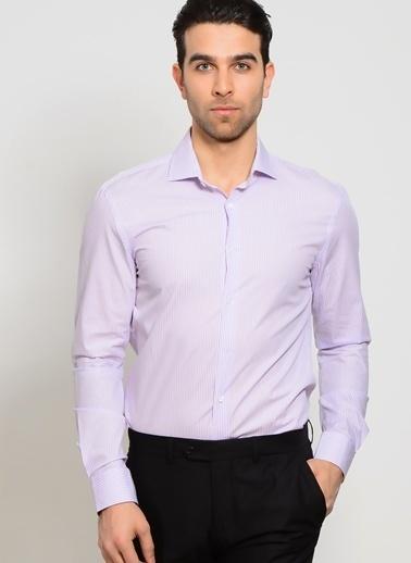 Cotton Bar Uzun Kollu Gömlek Mor